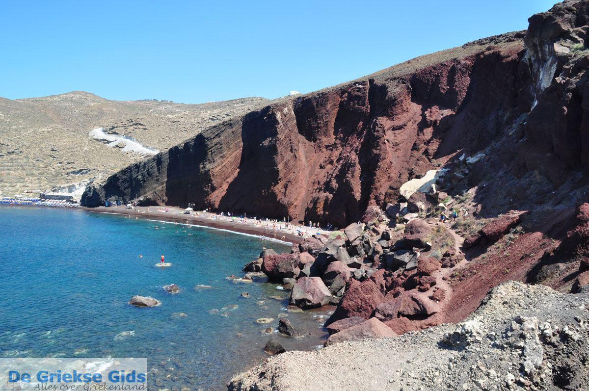 foto Red Beach bij Akrotiri Santorini | Cycladen Griekenland | De Griekse Gids foto 9