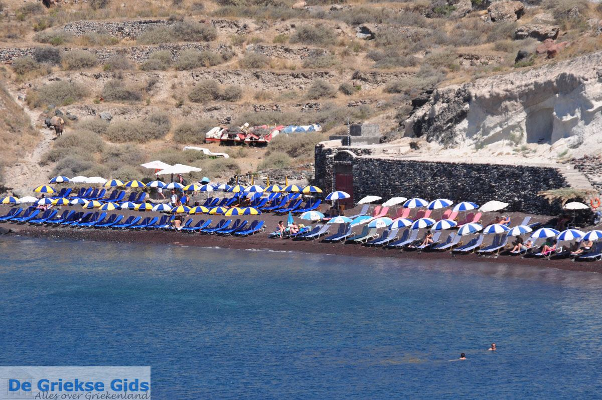 foto Red Beach bij Akrotiri Santorini | Cycladen Griekenland 17