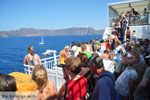 Aankomst met boot op Santorini | In de verte Firostefani en Fira - Foto van De Griekse Gids