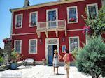 voor het hotel Porfyron in Ano Pedina - Zagori Epirus - Foto van De Griekse Gids