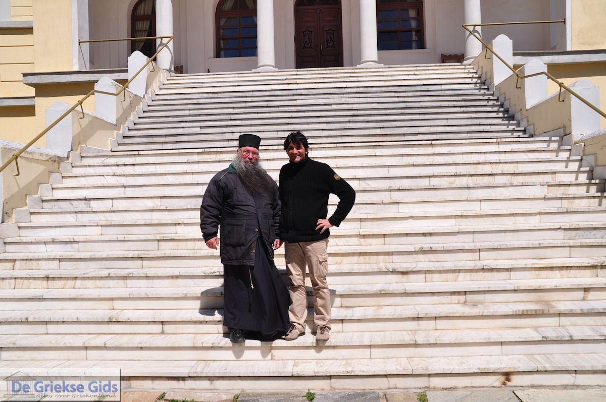foto Op de foto met Gerontas Onisimos in Karyes | Athos gebied Chalkidiki | Griekenland