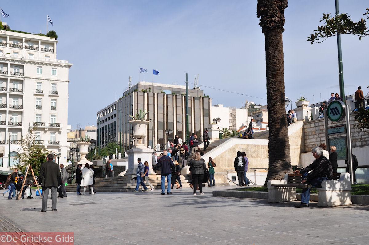 foto Het levendige Syntagmaplein van Athene