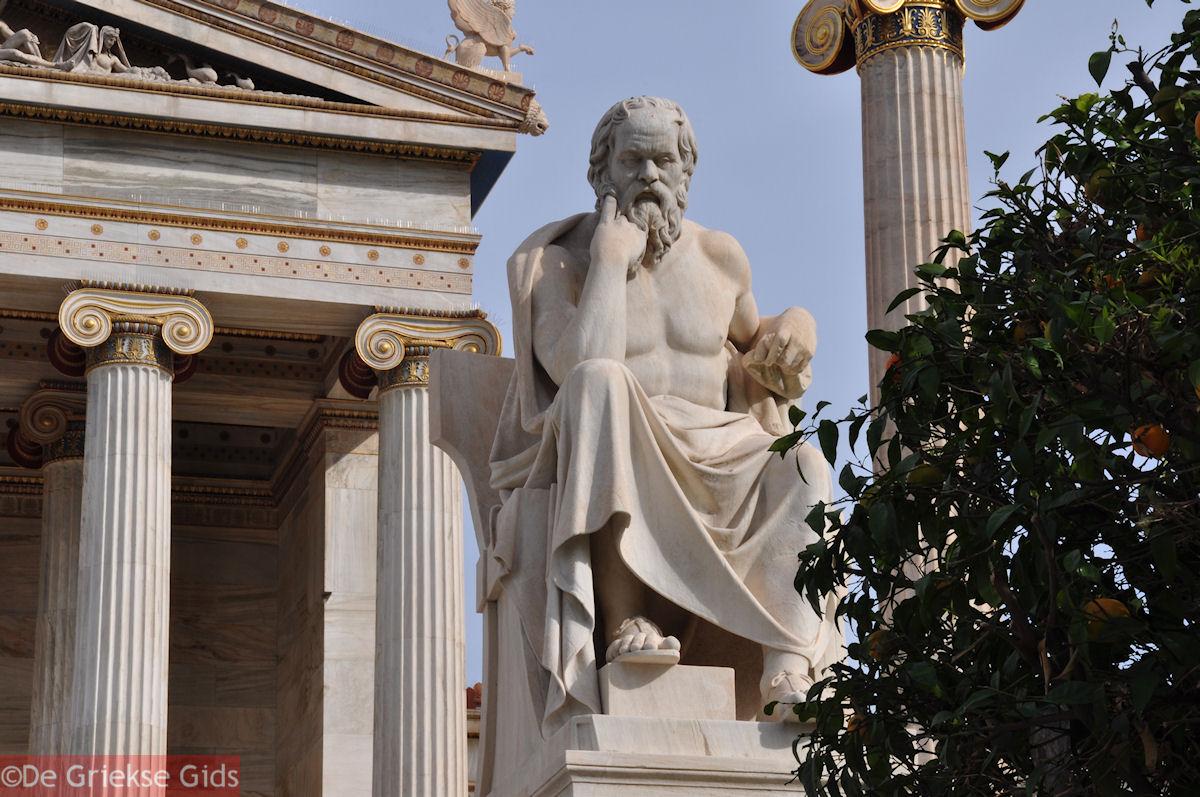 foto Beeld van Socrates (2m 40 cm): Academie Athene