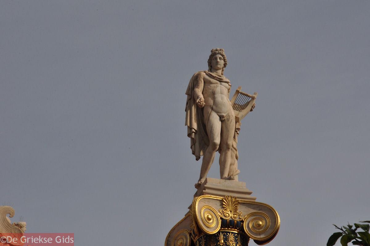 foto Beeld van Apollo (3m 71 cm): Academie Athene