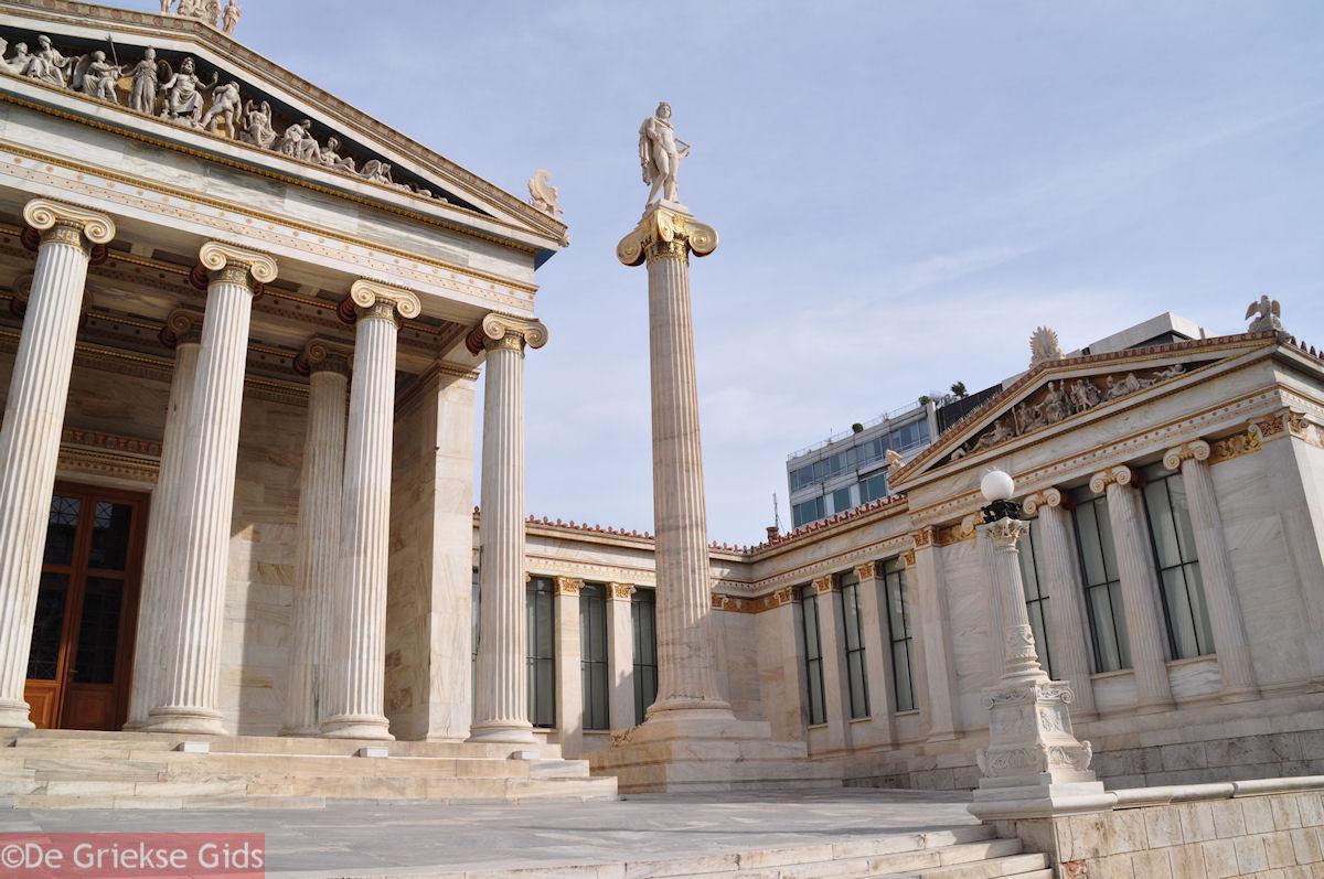 foto Academie Athene: God Apollon op de lange zuil