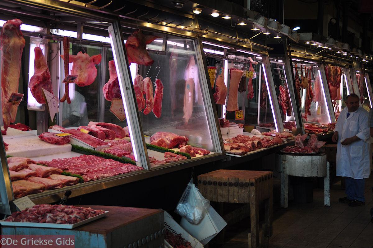 foto De vleesmarkt van Athene aan de Athinastraat - Markt Athene