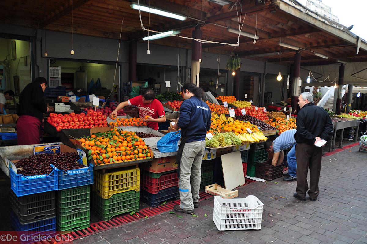 foto Groenten en fruit - Centrale markt Athene