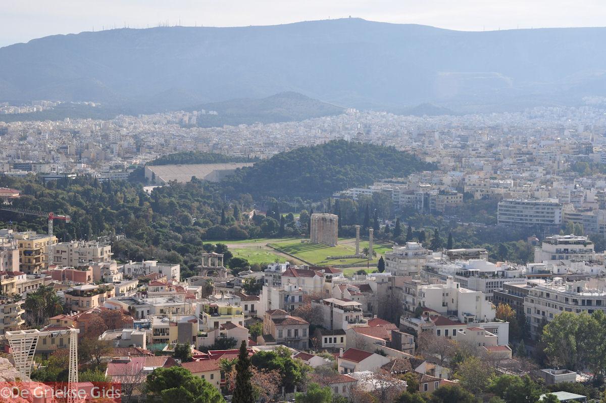 foto Plaka, Tempel Zeus Olympius en Panathinaikon Stadion