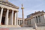 Academie Athene: God Apollon op de lange zuil - Foto van De Griekse Gids
