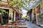 De wijk plaka van Athene