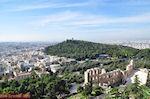 De groene Philopapou heuvel gezien vanop de Akropolis - Foto van De Griekse Gids
