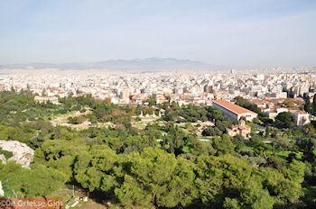 De oude markt van Athene gezien vanaf Pnyx - Foto von GriechenlandWeb.de