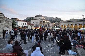 Het drukke Monastirakiplein - Athene - Foto van De Griekse Gids