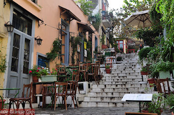 Steegjes Mnisikleous str Plaka - Anafiotika - Athene - Foto van De Griekse Gids