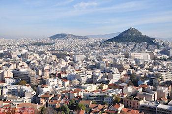 De Likavitos heuvel gezien vanaf de Akropolis - Foto van De Griekse Gids