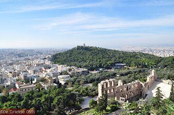 De groene Philopapou heuvel gezien vanop de Akropolis - Foto von GriechenlandWeb.de