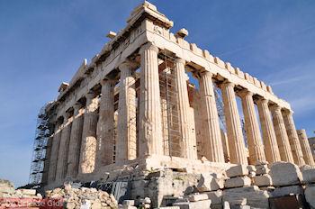 Het Parthenon gezien vanuit het zuiden