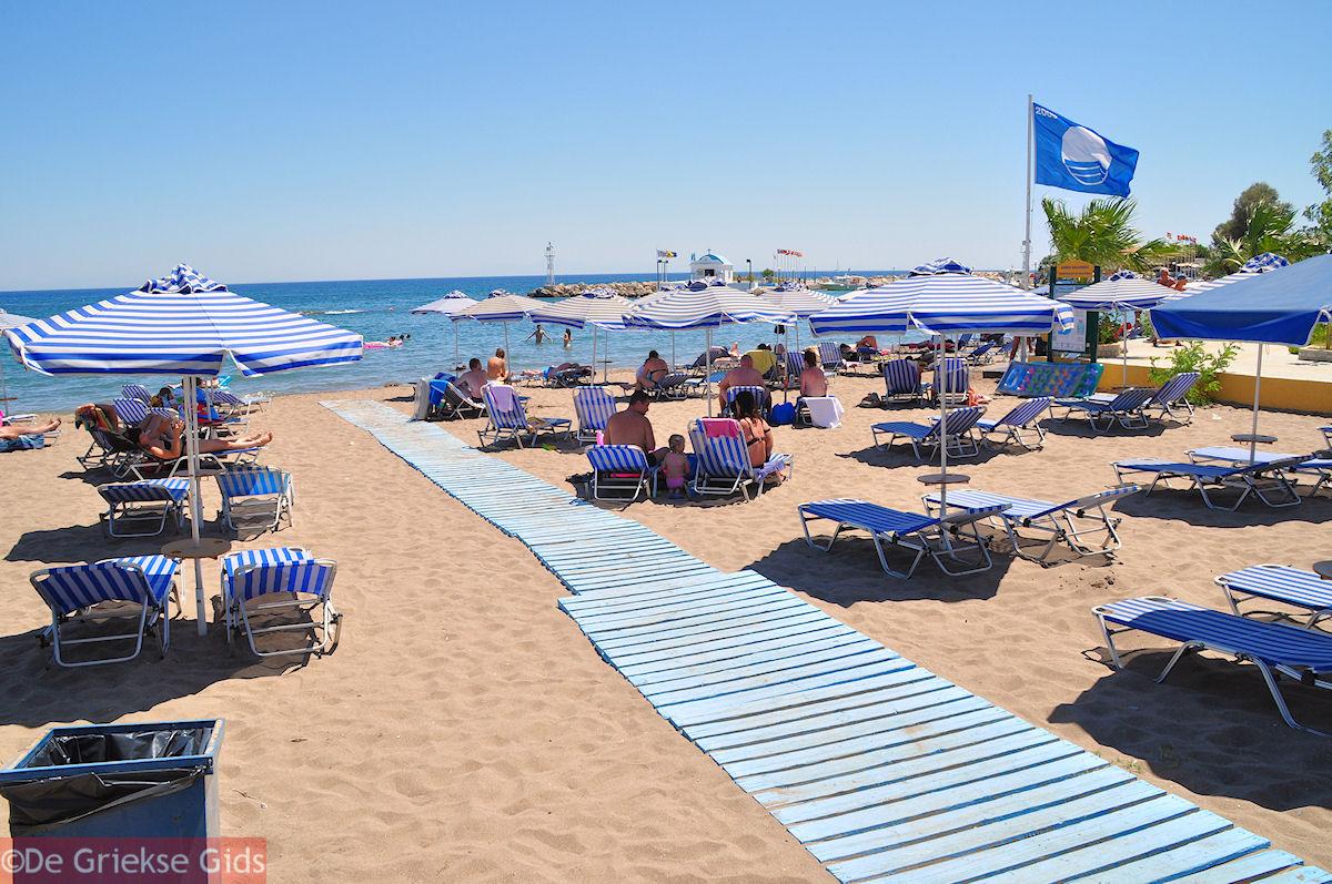 foto Blue Flag aan een van de stranden van Faliraki (Rhodos)