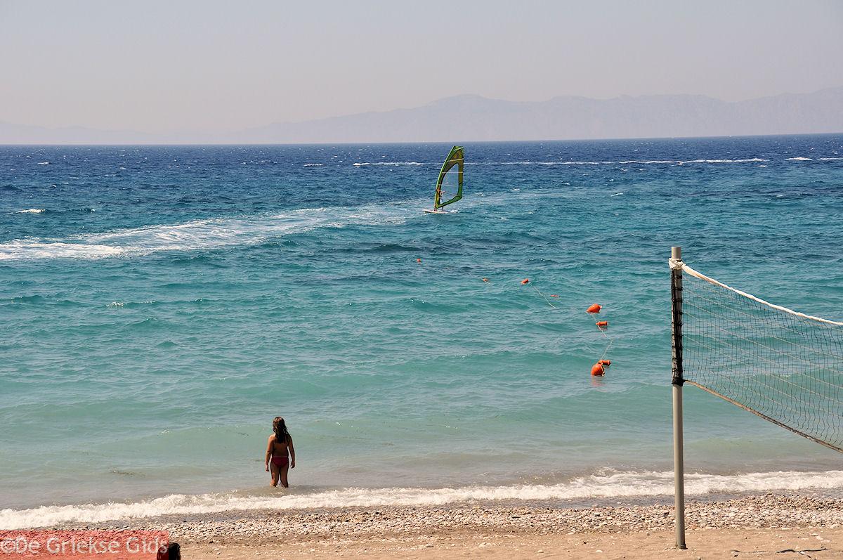 foto Windsurfen bij Ixia Rhodos