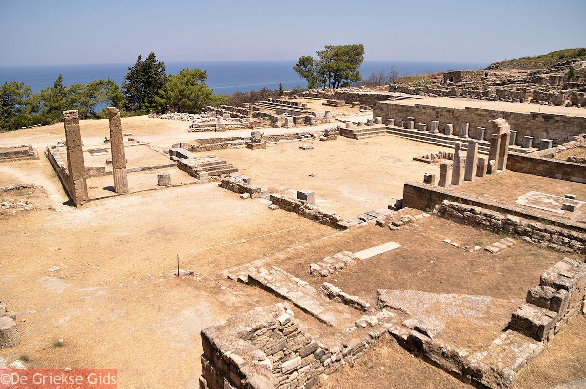 foto Kamiros (Rhodos), de Agora en het Heiligdom