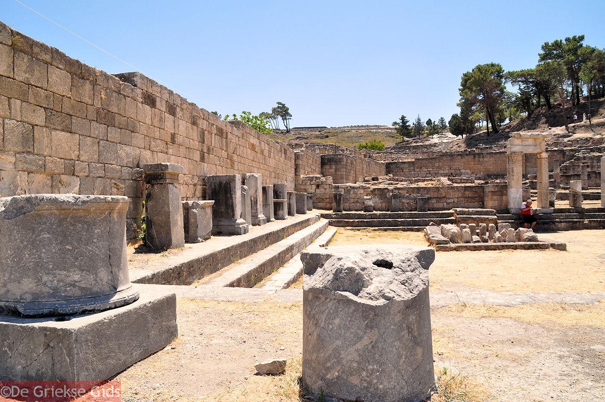 foto Kamiros (Rhodos), deze stad is in 226 voor Christus opnieuw gebouwd
