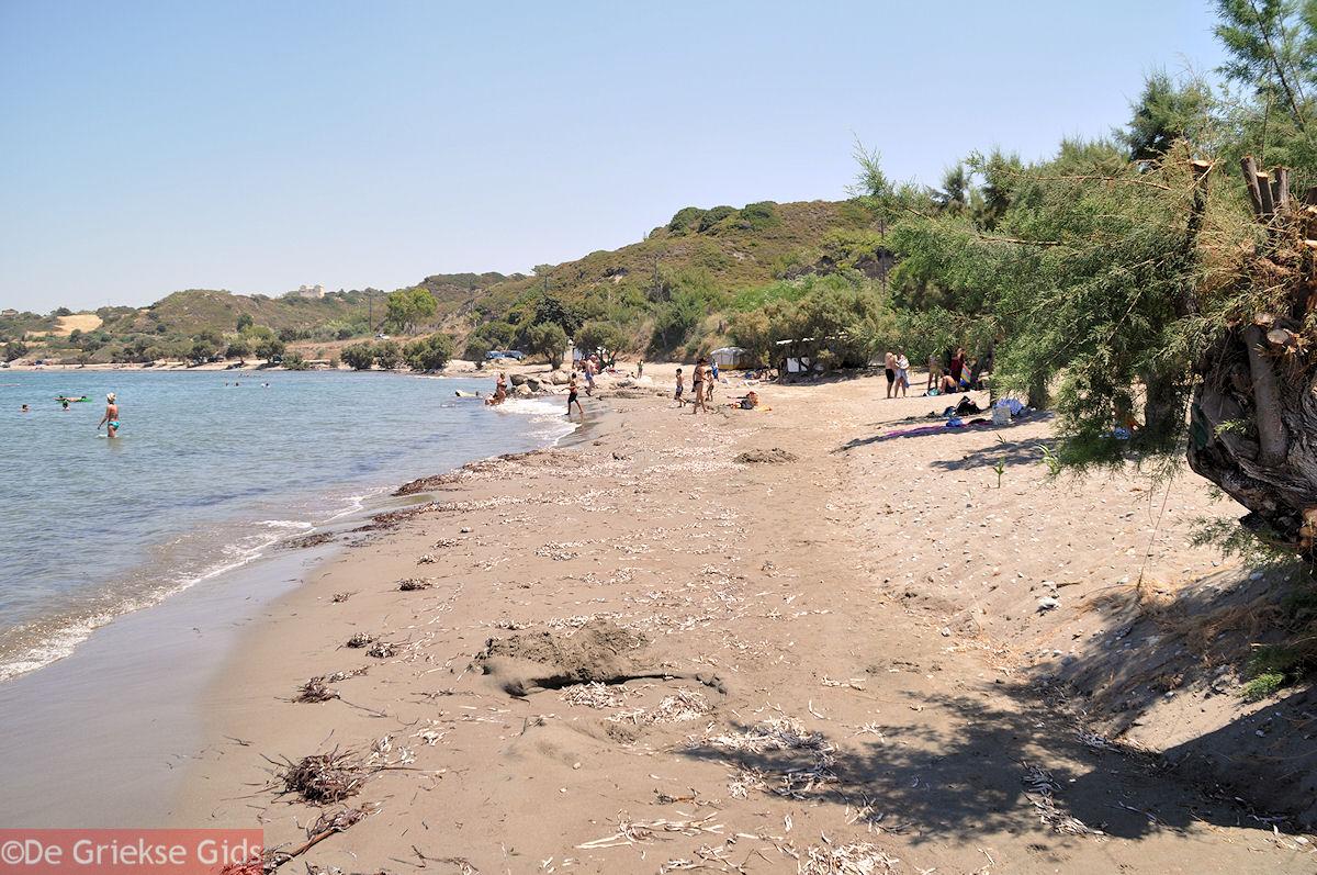 foto Strand bij Kamiros (Rhodos)