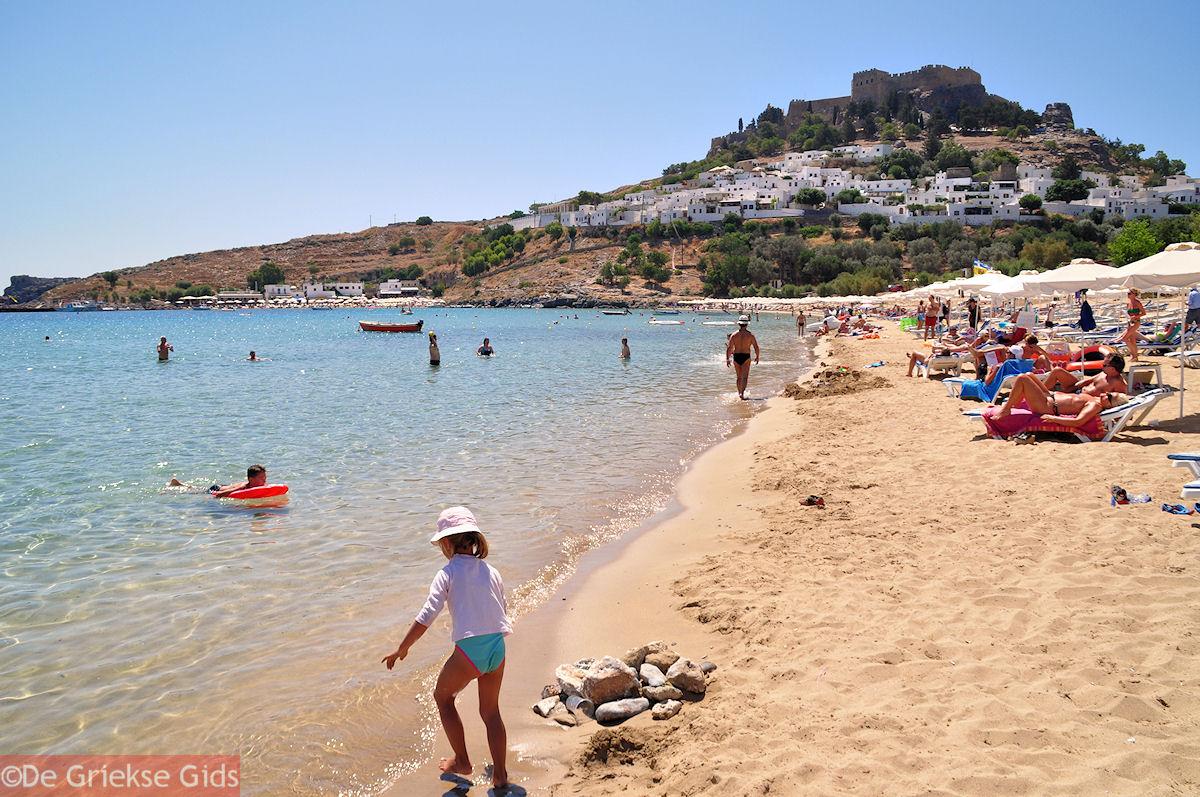 foto Lindos - Misschien wel het beste strand van Rhodos