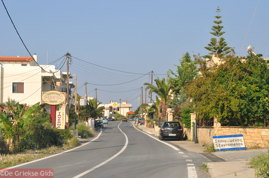 foto het dorpje Stavromenos in Rethymnon
