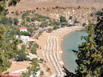 Zicht op strand - Lindos (Rhodos) - Foto van De Griekse Gids