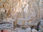 Reliëf van een schip in rots - Lindos (Rhodos) - Foto van De Griekse Gids