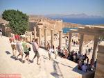 Brede trappen bij de Stoa van Lindos - Foto van De Griekse Gids