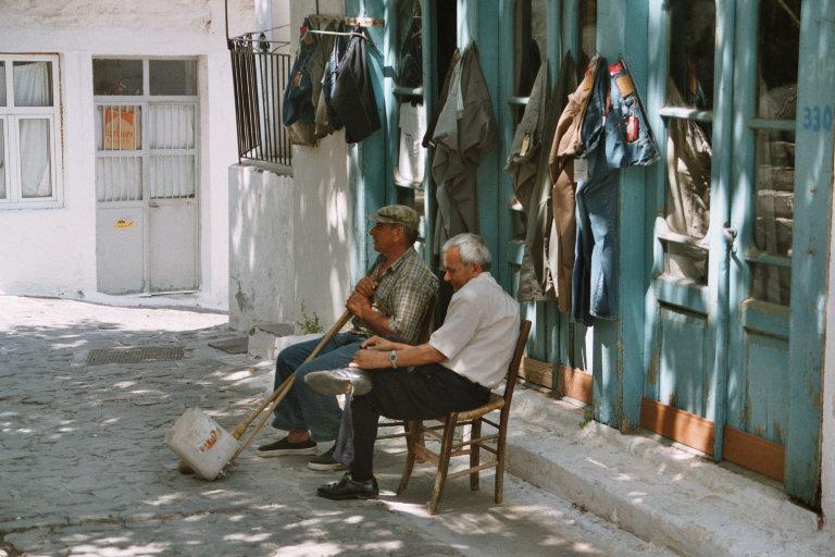foto Voor de textielwinkel