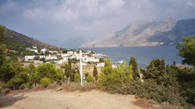 Uitzicht vanaf Telendos op Kalymnos - Foto van Anneke Heijboer