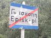 Plaatsnaambord Episkopi - Foto van Nikos