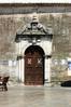 Kerkdeur in Lefkas-stad - Foto van