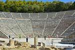 Theater Epidavros -Epidaurus in Argolis op Peloponnesos foto 1 - Foto van De Griekse Gids
