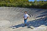 Theater Epidavros -Epidaurus in Argolis op Peloponnesos foto 3 - Foto van De Griekse Gids