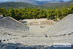 Theater Epidavros -Epidaurus in Argolis op Peloponnesos foto 9 - Foto van De Griekse Gids