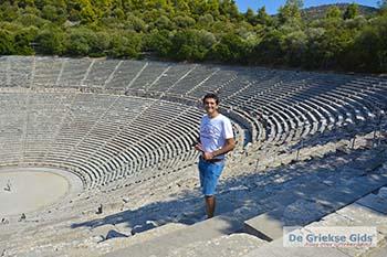 Theater Epidavros -Epidaurus in Argolis op Peloponnesos foto 3 - Foto van https://www.grieksegids.nl/fotos/peloponnesos/argolis/normaal/epidavros-epidaurus-003.jpg