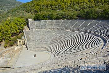Theater Epidavros -Epidaurus in Argolis op Peloponnesos foto 5 - Foto van https://www.grieksegids.nl/fotos/peloponnesos/argolis/normaal/epidavros-epidaurus-005.jpg