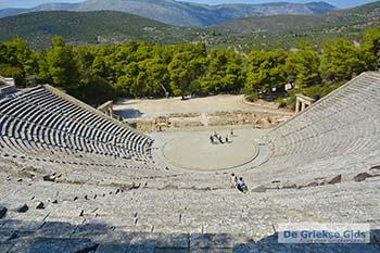Theater Epidavros -Epidaurus in Argolis op Peloponnesos foto 9 - Foto van https://www.grieksegids.nl/fotos/peloponnesos/argolis/normaal/epidavros-epidaurus-009.jpg