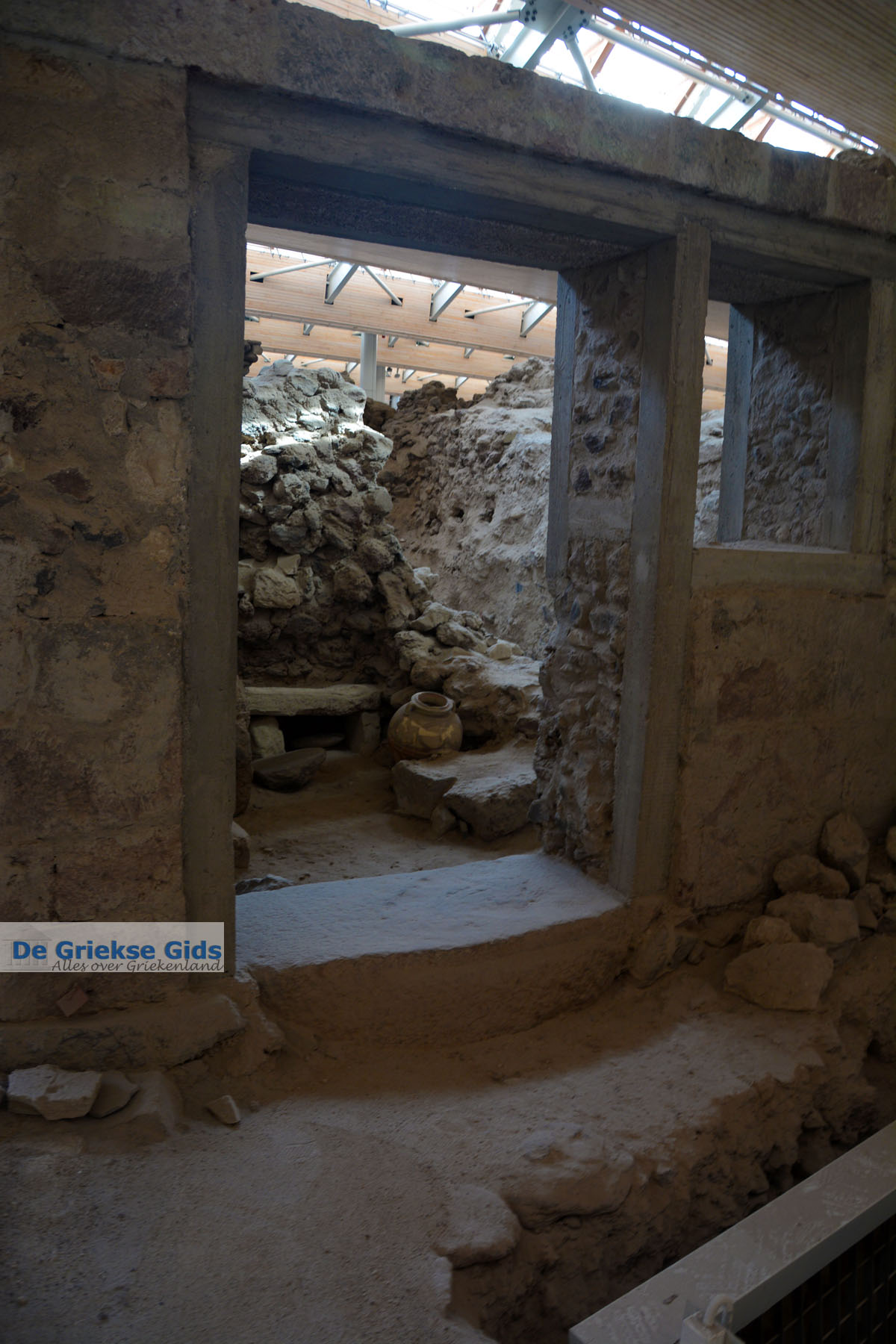 foto Opgravingen Akrotiri Santorini   Cycladen Griekenland   Foto 25