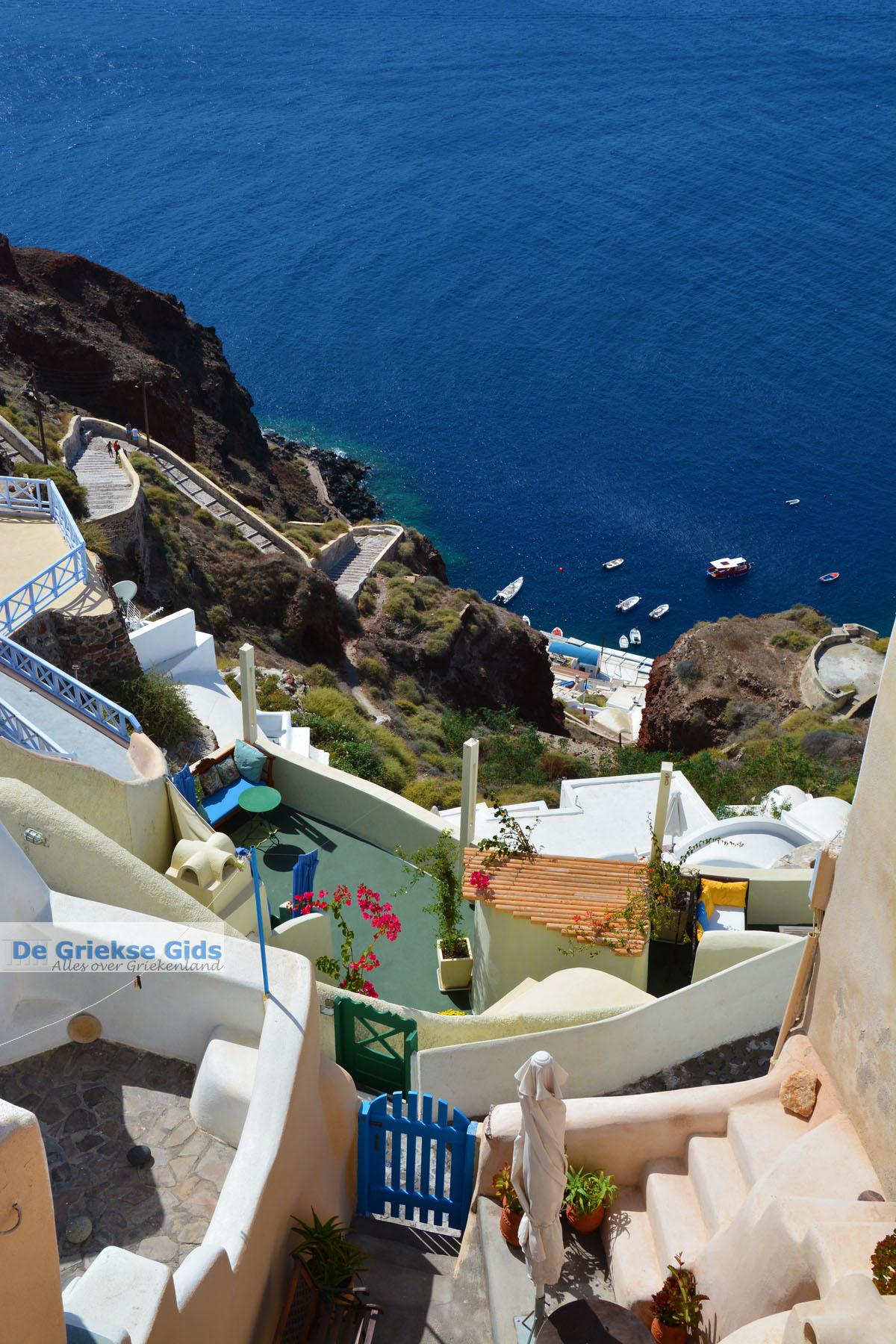 foto Trappen naar Ammoudi vanaf Oia Santorini | Cycladen Griekenland | Foto 1086
