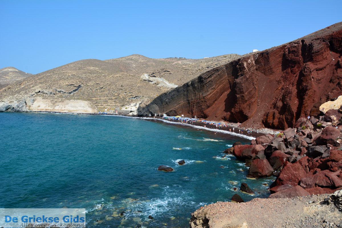 foto Red Beach Akrotiri Santorini | Cycladen Griekenland | Foto 188