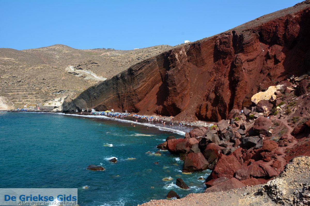 Red Beach Akrotiri Santorini Cycladen Griekenland Foto 191