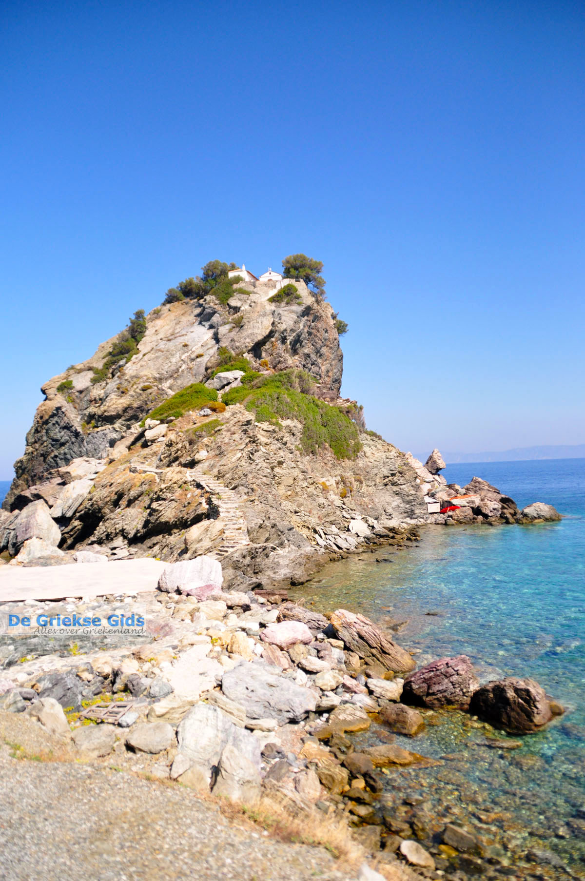 foto Agios Ioannis Kastri | Mamma Mia kerkje Skopelos | Sporaden Griekenland 39