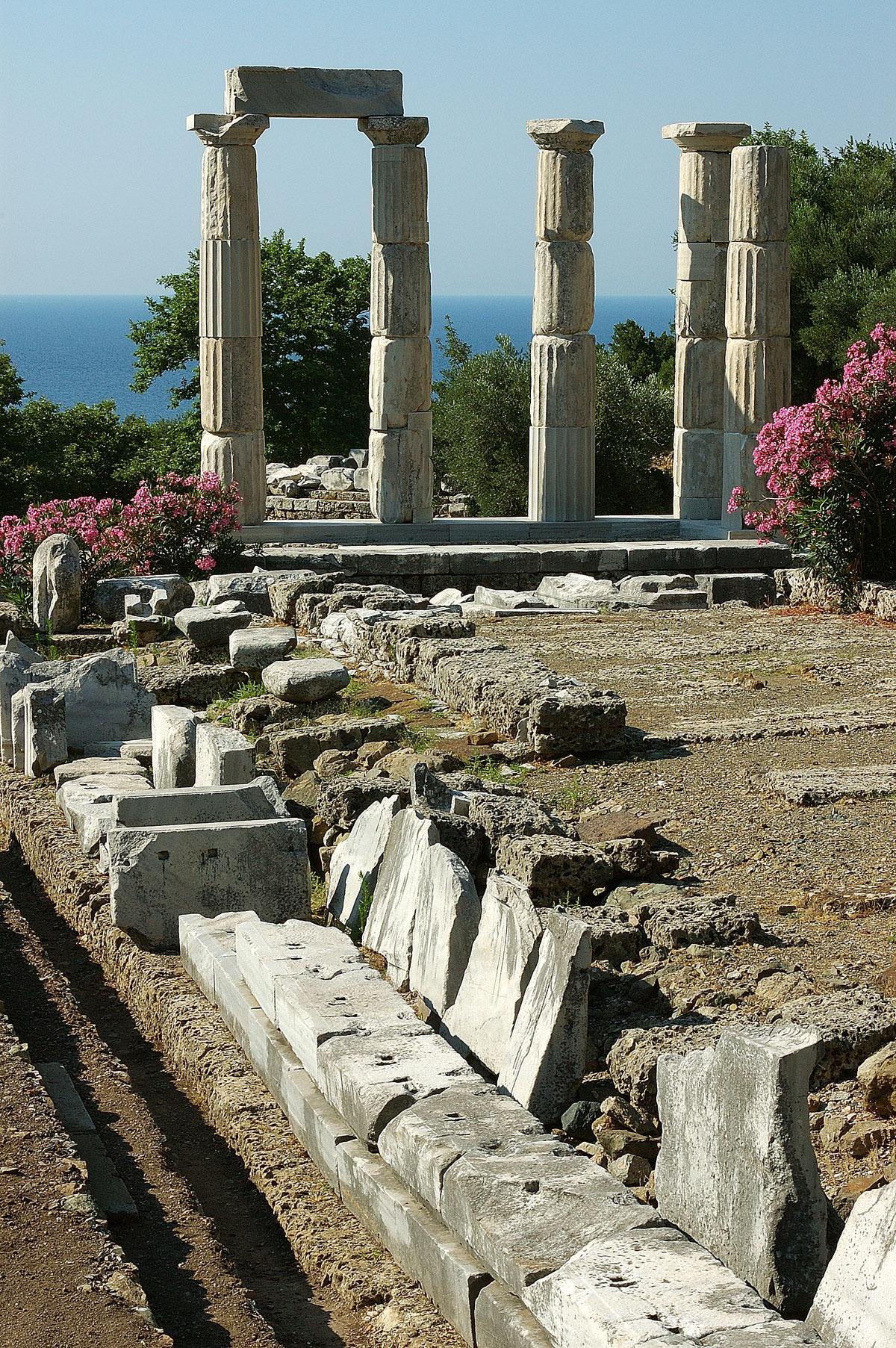 foto Akropolis op Samothraki | Griekenland | Foto 1