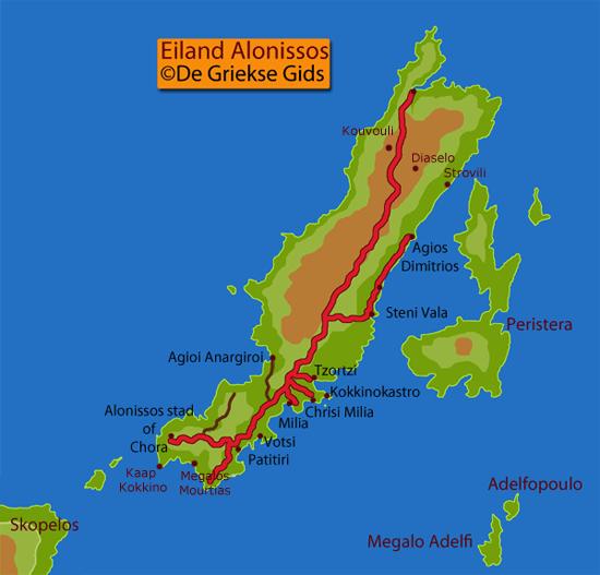 Kaart Alonissos