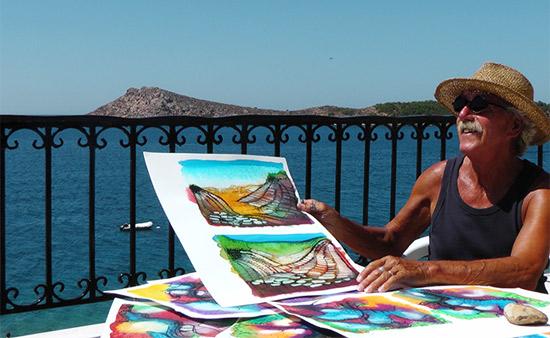 Piet van Riel beschildert liefde voor Griekenland