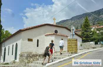 Delphi Fokida | Centraal Griekenland | Stadje Delphi kerk - Foto van De Griekse Gids